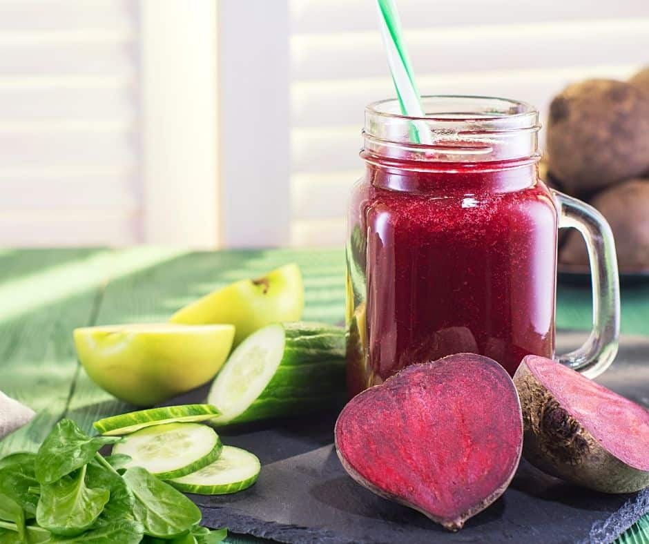beetroot and spinach smoothie
