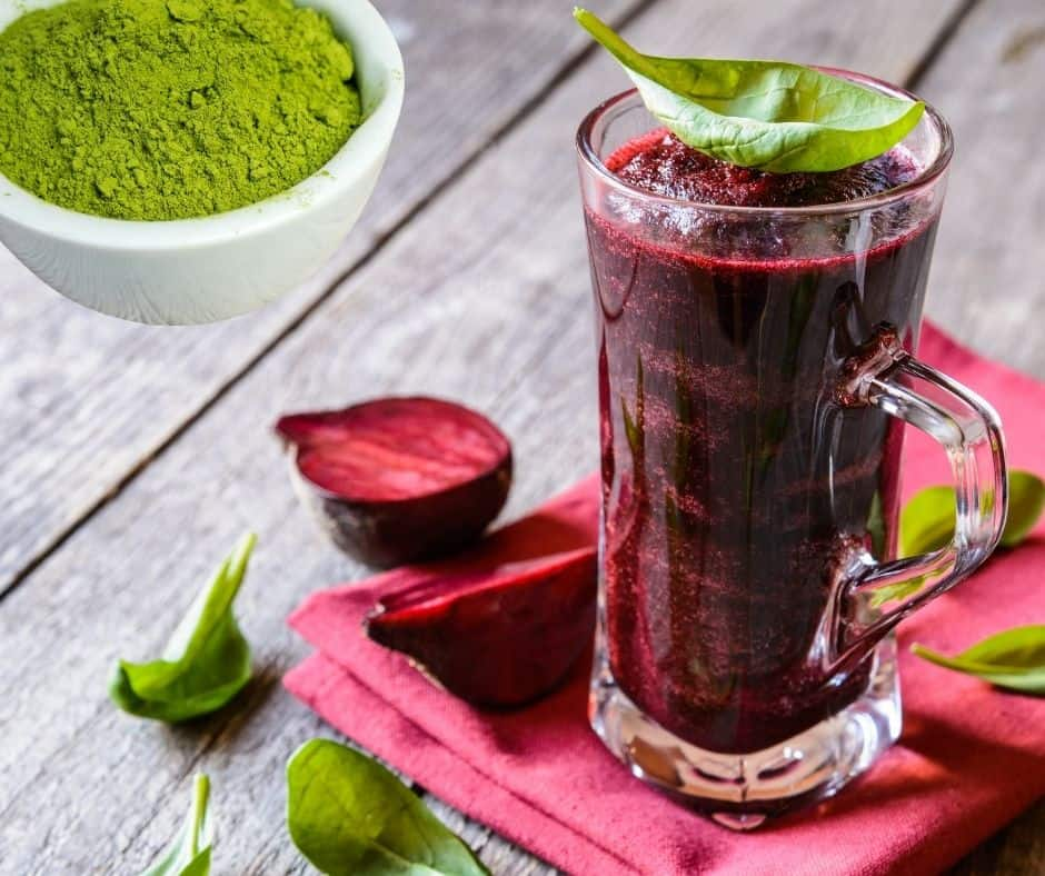 matcha beetroot smoothie for weight loss